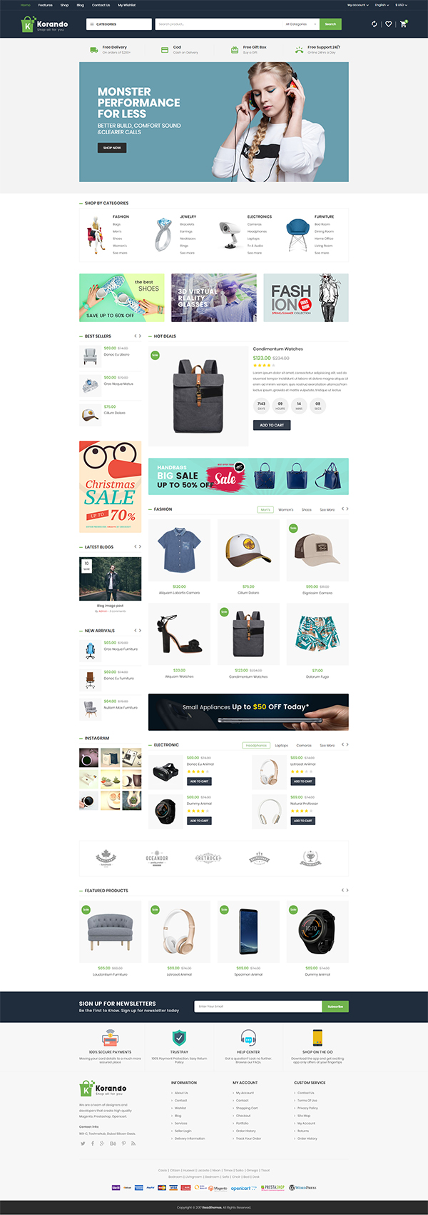 Korando – Multipurpose Theme for WooCommerce WordPress