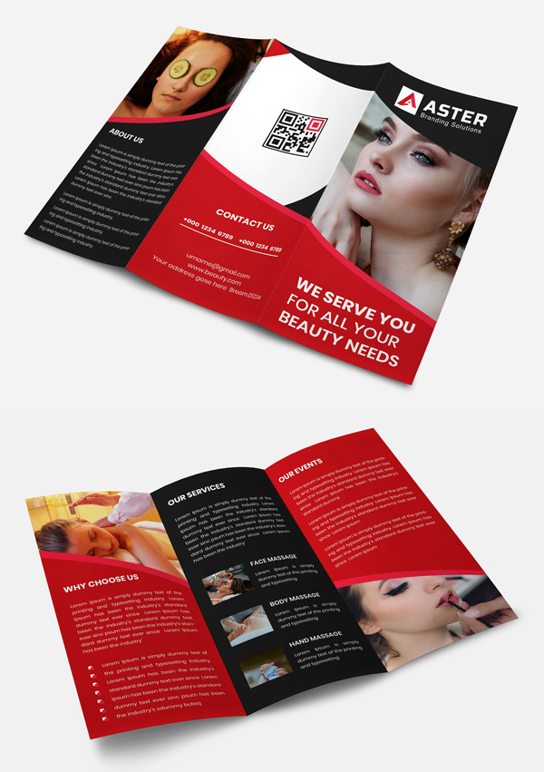 Beauty Trifold Brochure