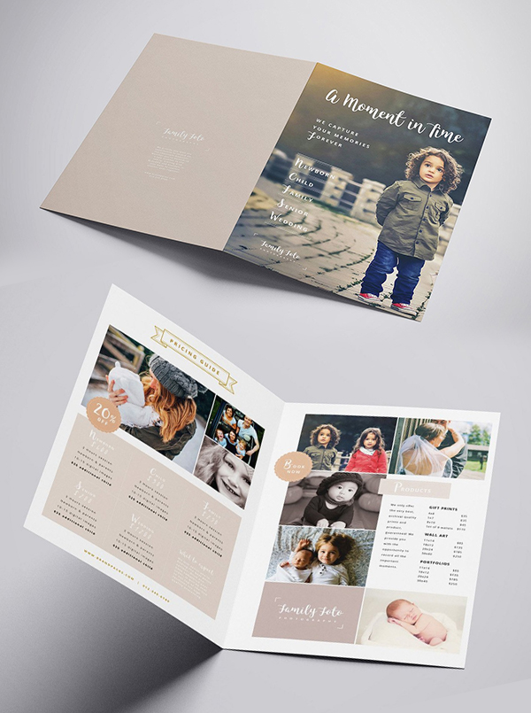 Family Photographer Brochure