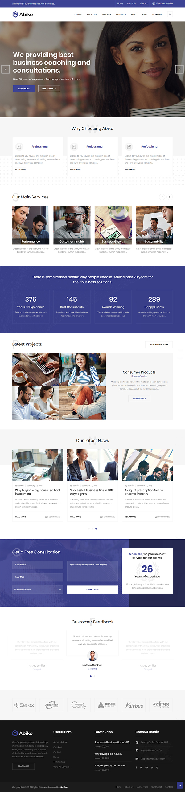 Abiko - Business Consulting WordPress Theme