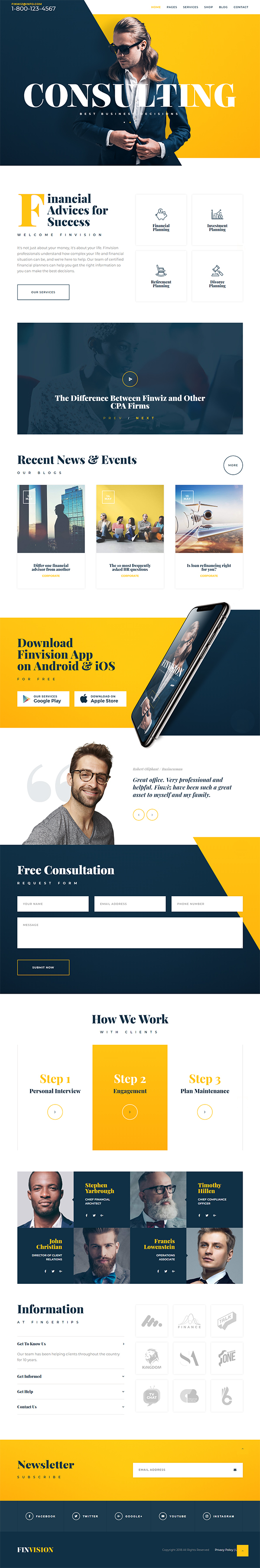 Finvision - Financial Audit And Consulting WordPress Theme