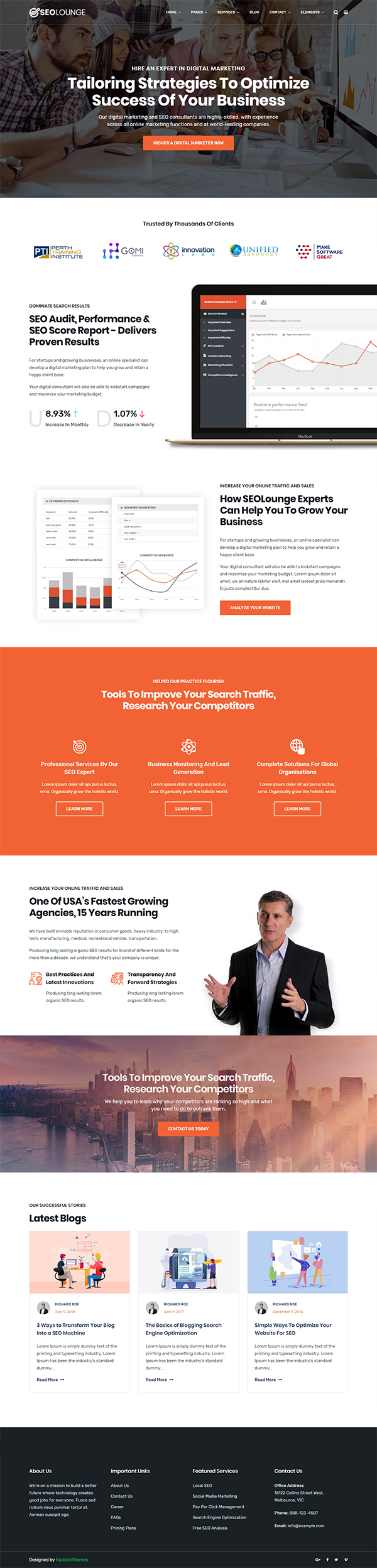 SEOLounge - SEO Agency WordPress Theme