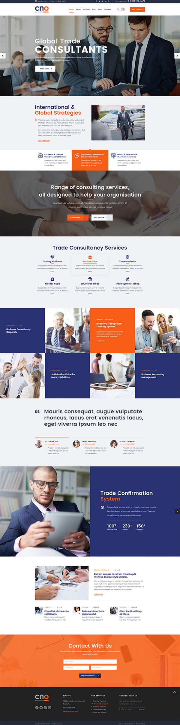 Councilio - Business and Financial Consulting WordPress Theme