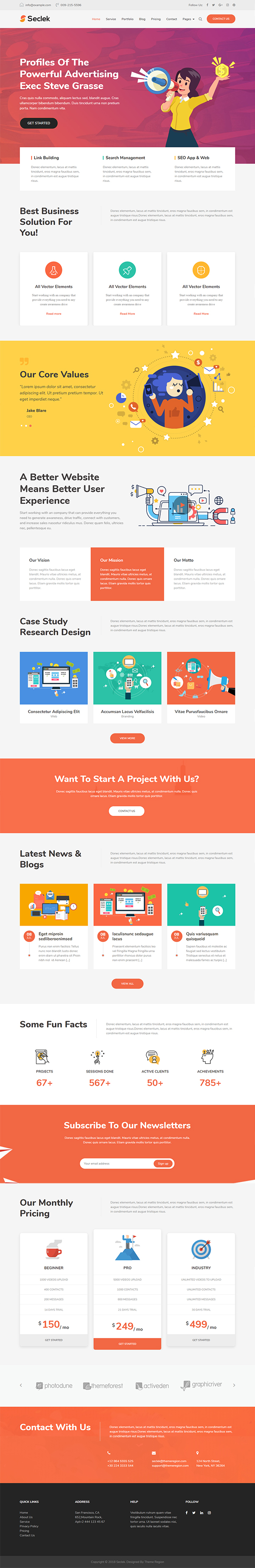 Seclek - Multipurpose WordPress Theme