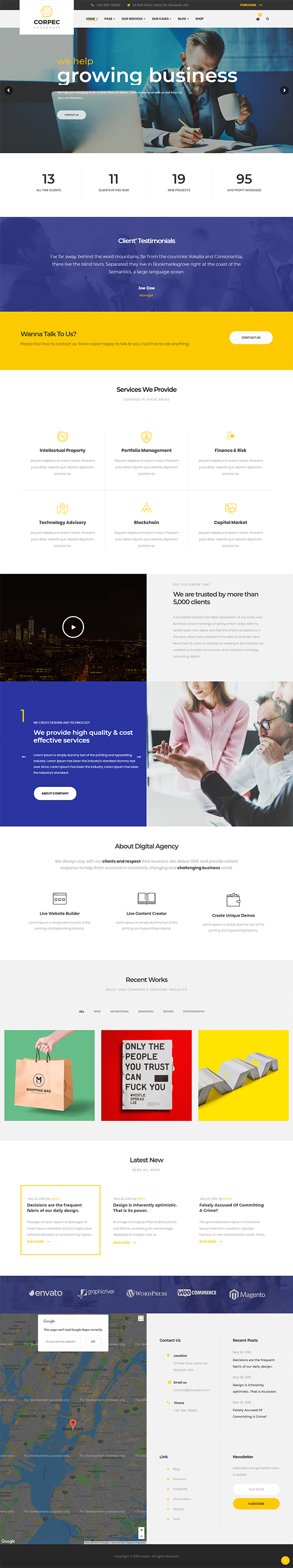 Corpec - Corporate WordPress Theme