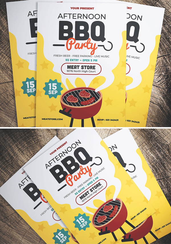 Barbeque Party Flyer Template
