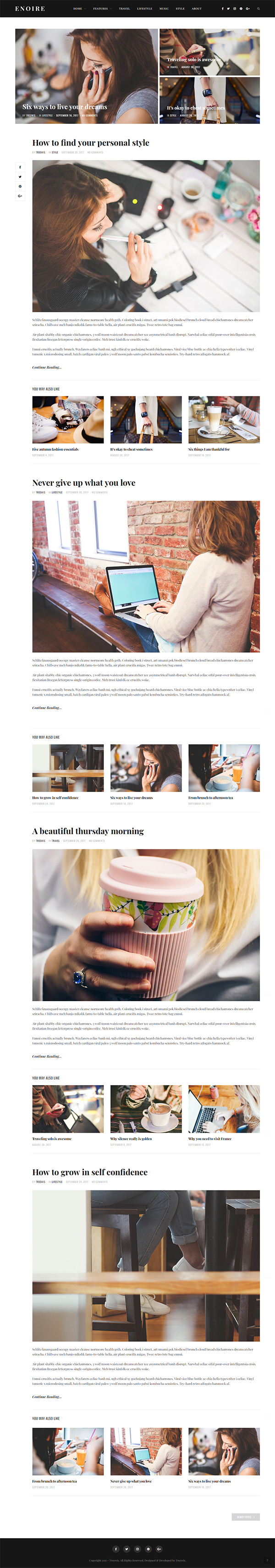 Enoire - WordPress Blog Theme