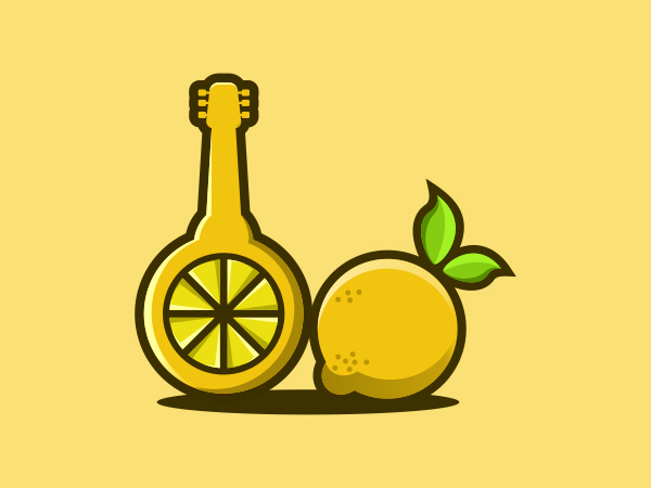 Lemon Guitar Logo Design