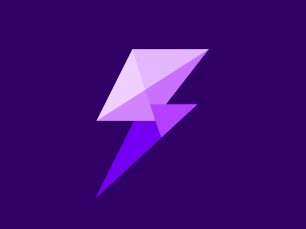 Purple Bolt Logo Design