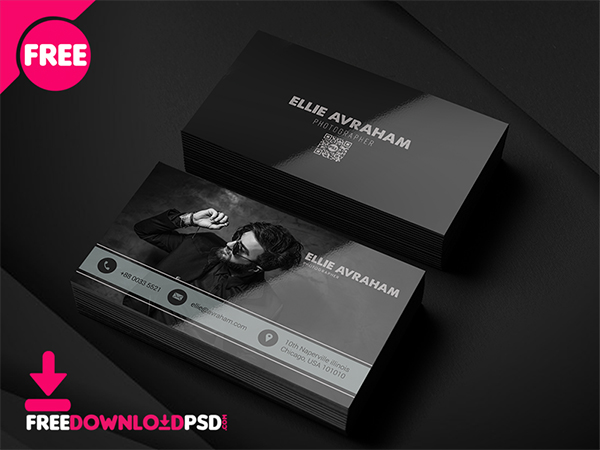 Photographer Business Card PSD Template