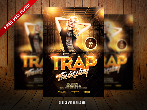 Trap Thursday Free Flyer Template
