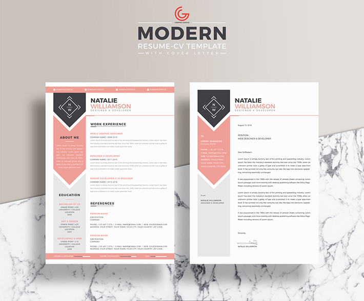 Free Designer & Developer Resume with Cover Letter