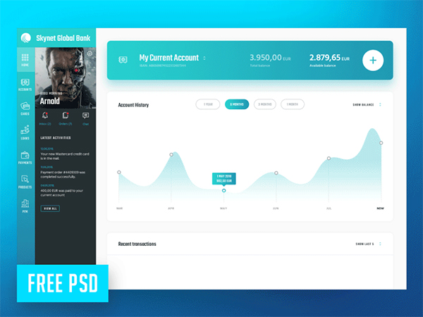 Skynet Global Bank FREE PSD template