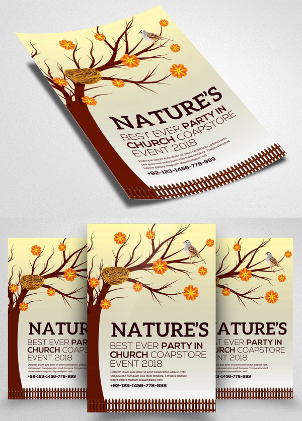 Nature Flyer Psd Template