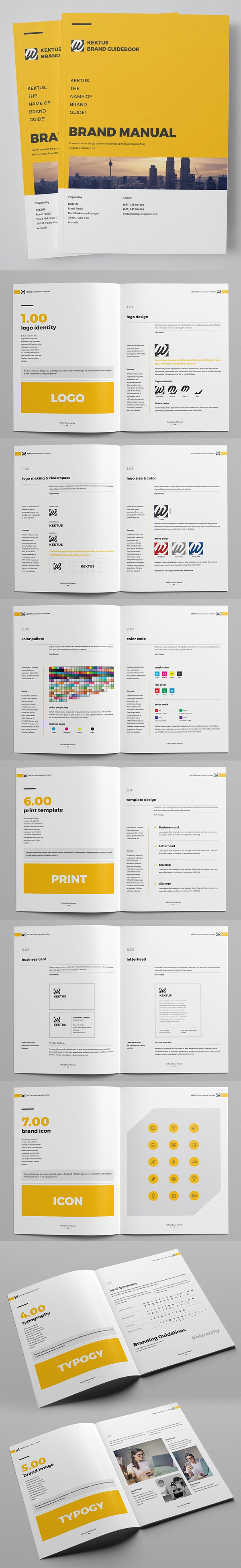 Brand Manual Brochure Design