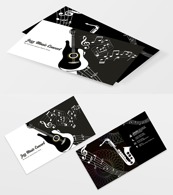 Jazz Music Business Card Template