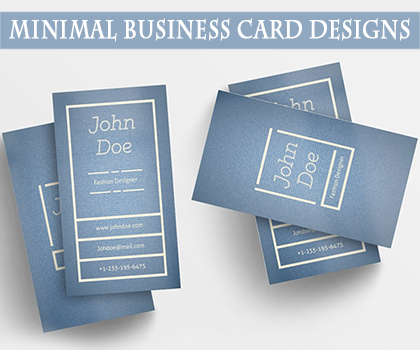 Minimal Business Card Templates Designs