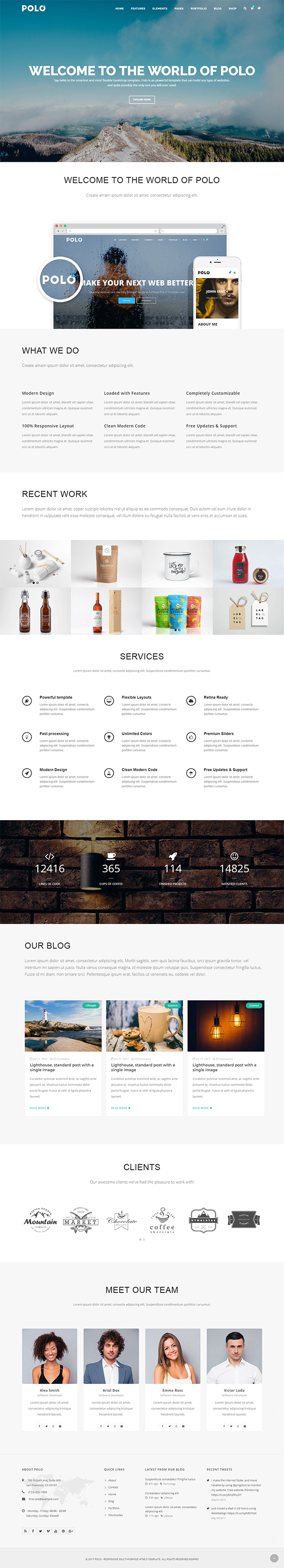 Polo - Responsive Multi-Purpose HTML5 Template