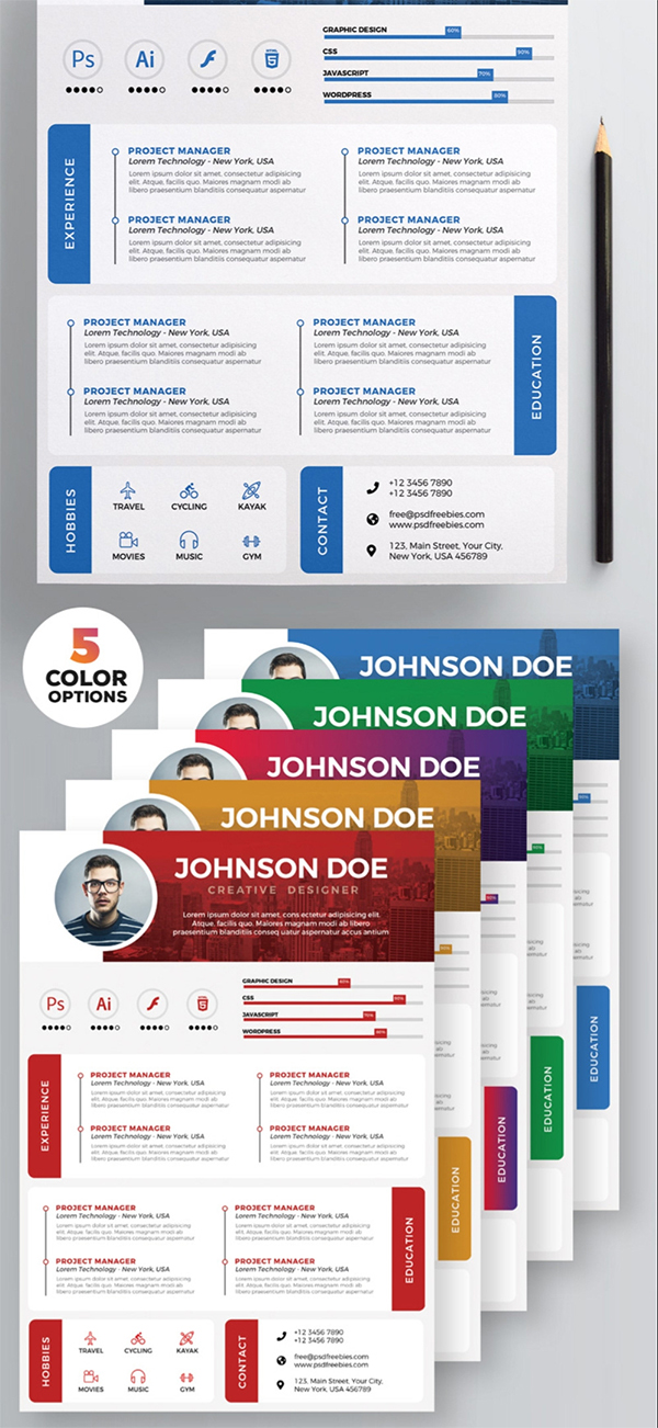 Resume Templates Free PSD