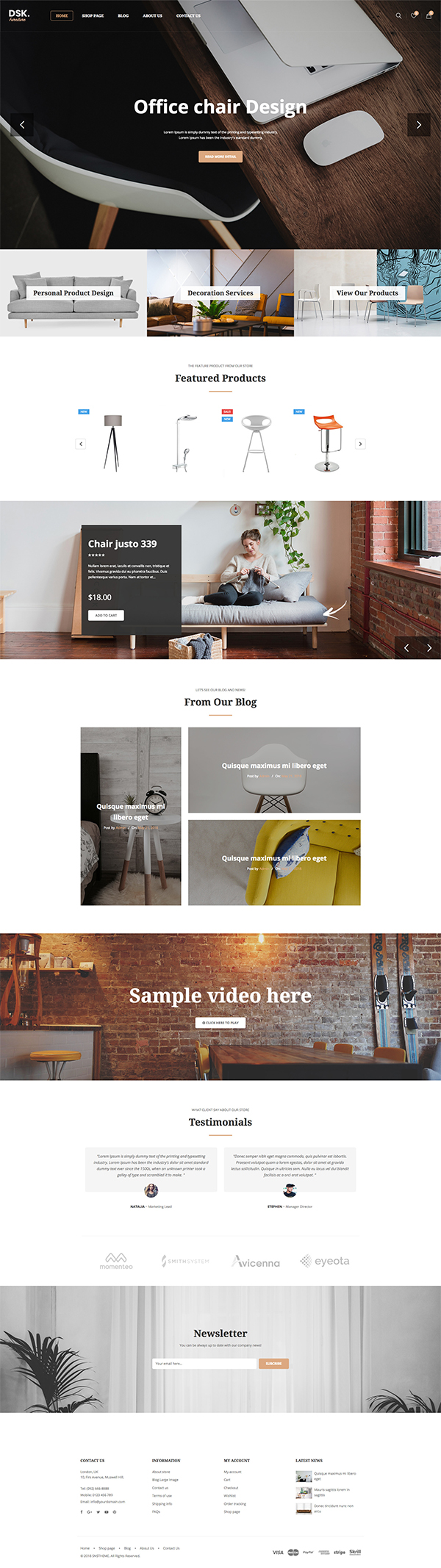 DSK – Furniture Store WooCommerce WordPress Theme