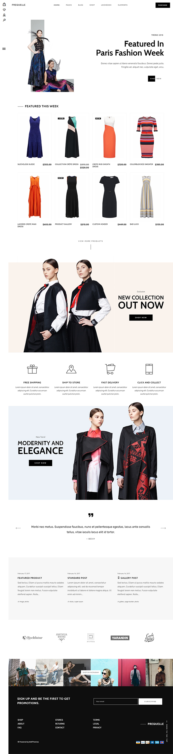Prequelle – Elegant and Modern WooCommerce Theme