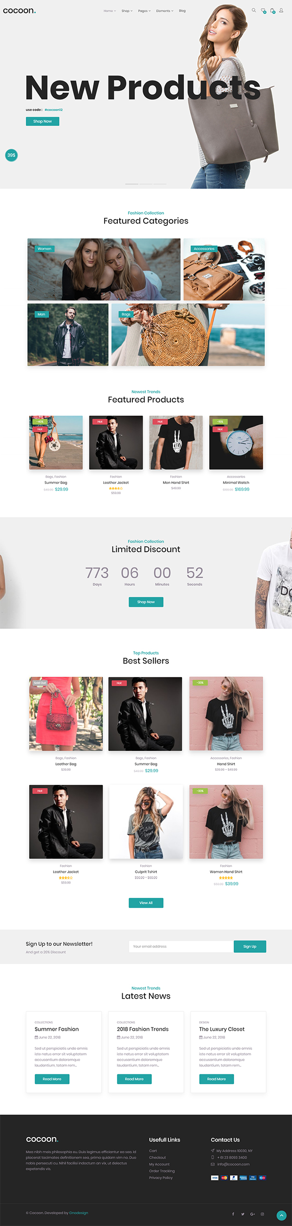 Cocoon - Modern WooCommerce WordPress Theme