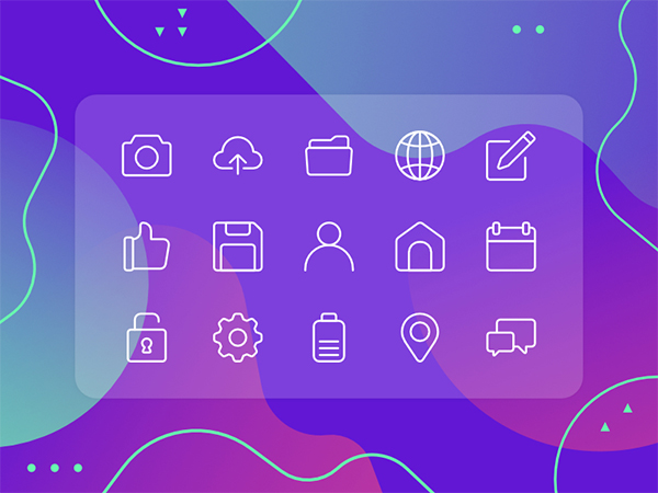 Rounded UI Icon Set