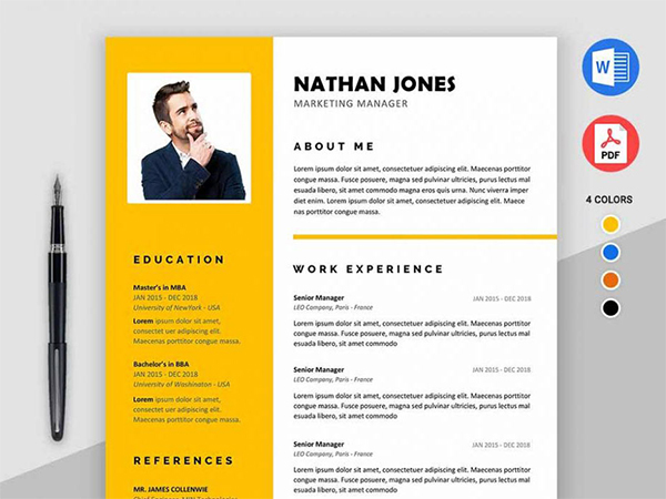 Free Modern Resume Template for MS Word