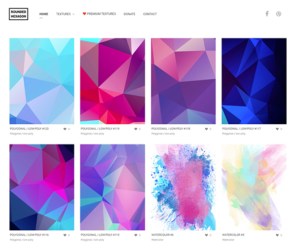 Free Low - Poly / Polygonal Textures