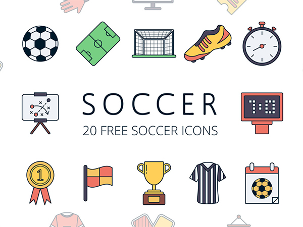 Soccer Vector Free Icon Set