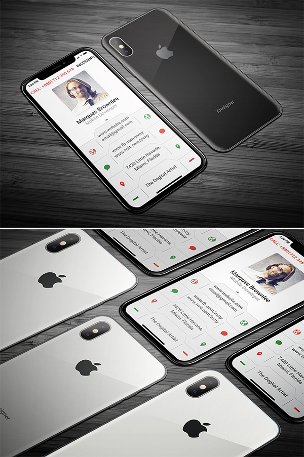 iPhone X Business Card