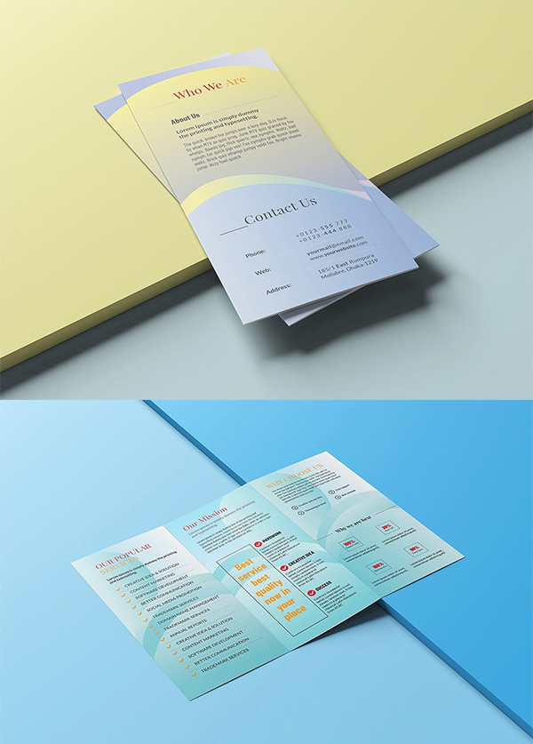 Business Corporate Trifold Brochure