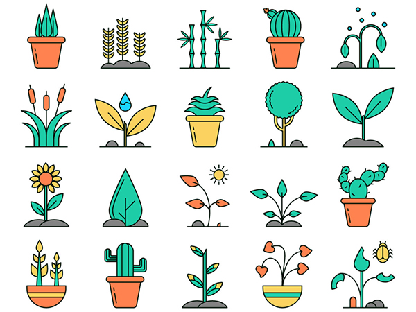 Plants Vector Free Icon Set