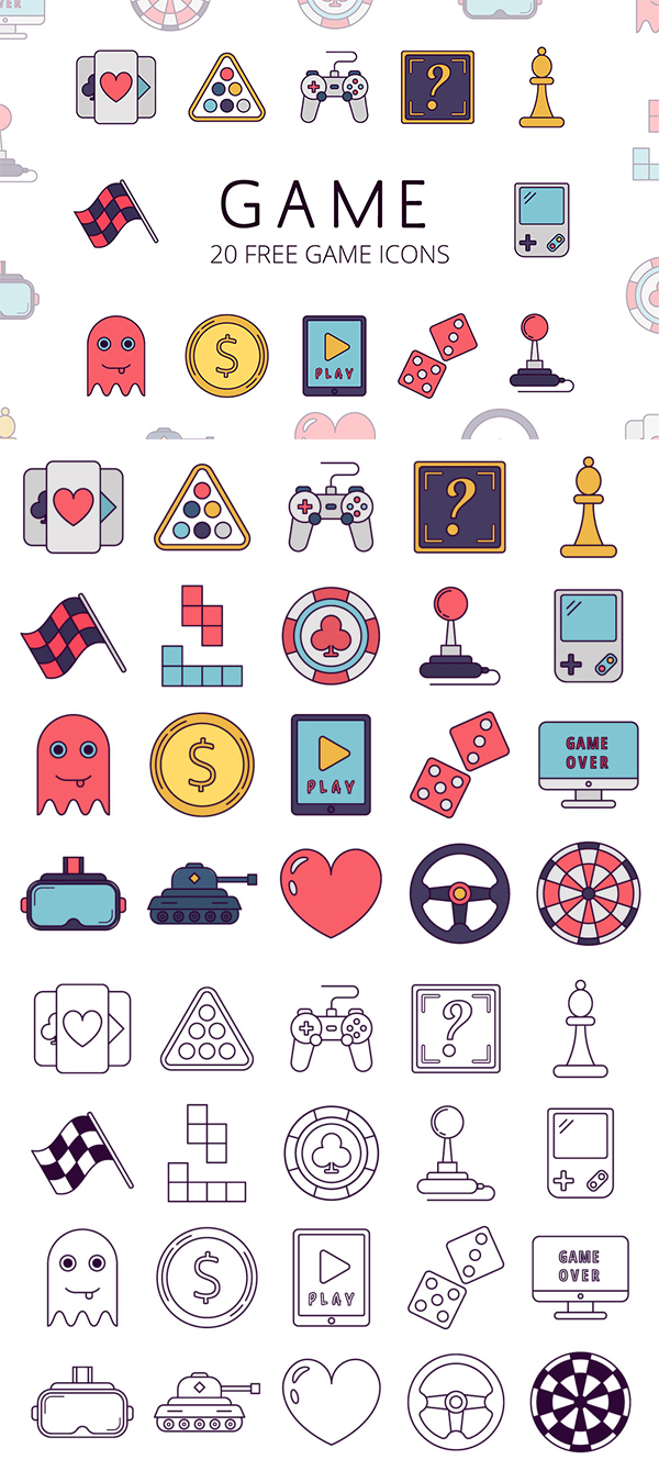 Game Vector Free Icon Set