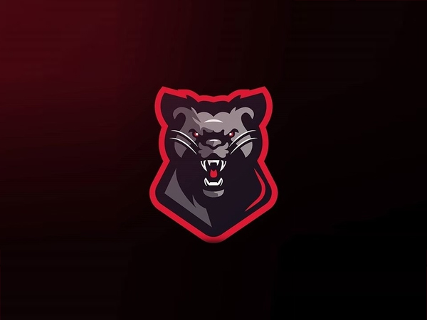 Bear panther Mixed Shape Logo