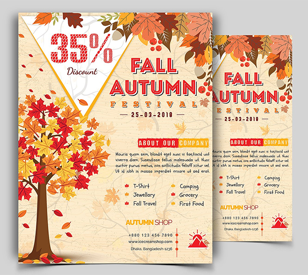 Autumn Fall Flyer Template