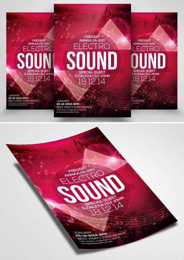 Jazz Music Concert Flyers Template