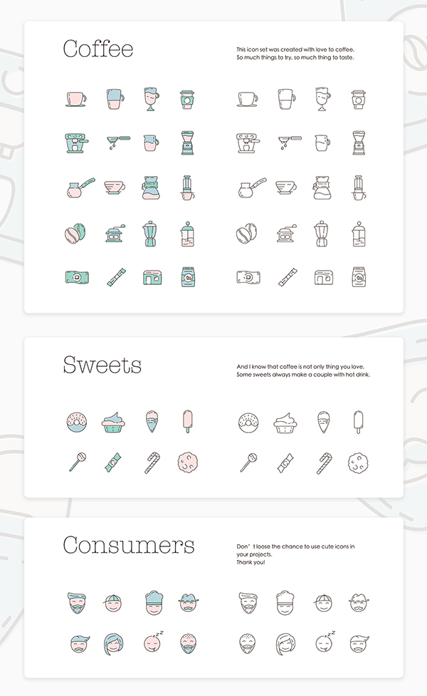 Free Icon Set - Coffeecons