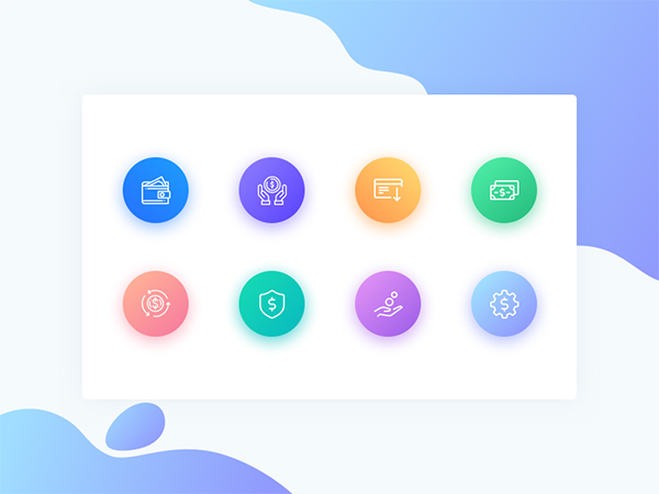 Free Icon Set / Gradients