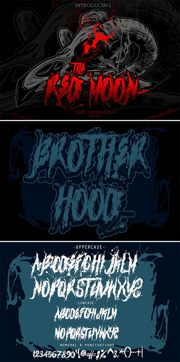The Red Moon Font