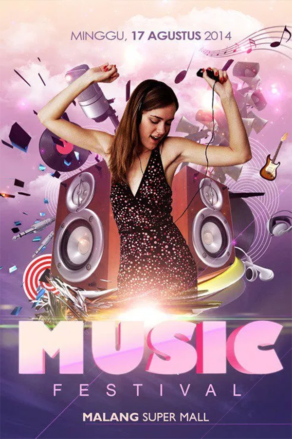 Create Groovy Music Flyer Poster with Photoshop