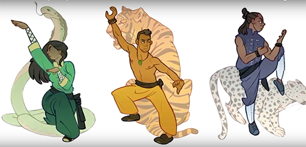 Illustration: Design Kung Fu Poses
