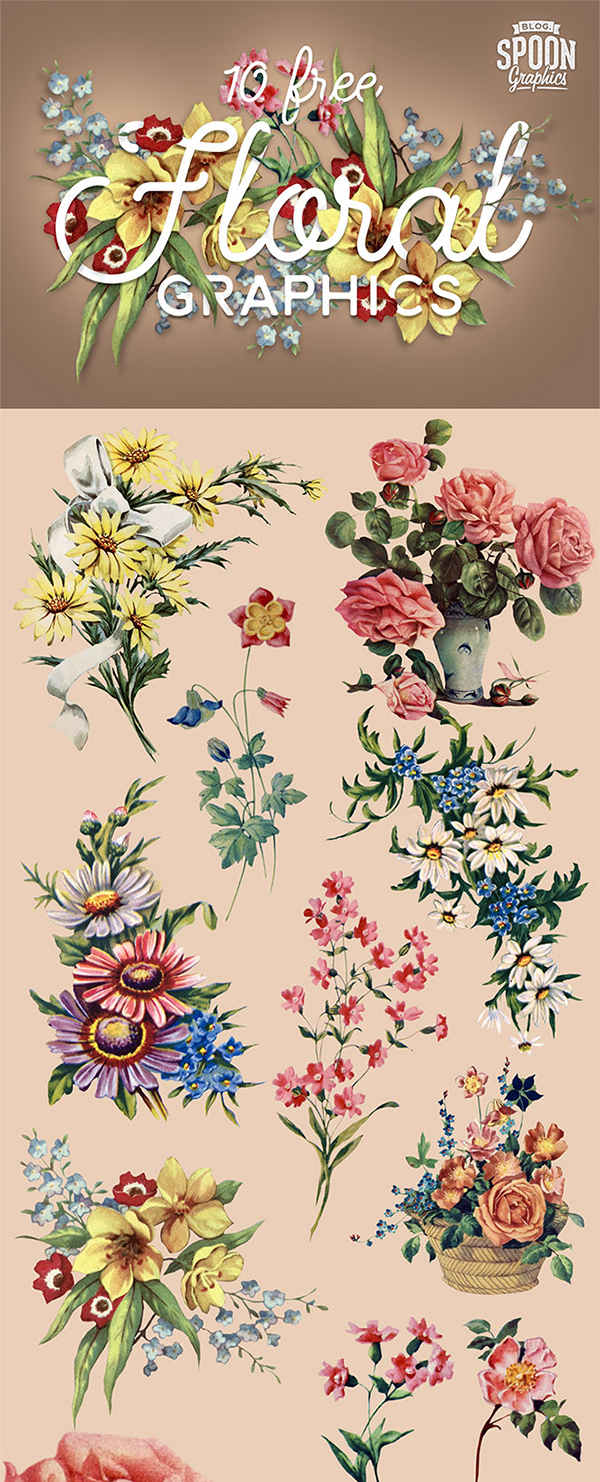 Free Floral PNG Graphics of Flowers & Bouquet Illustrations