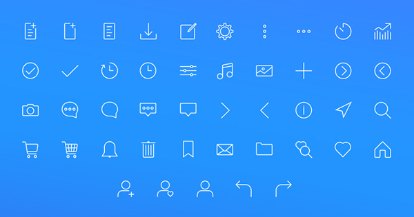 Web - Stroke Icon set + Icon Set