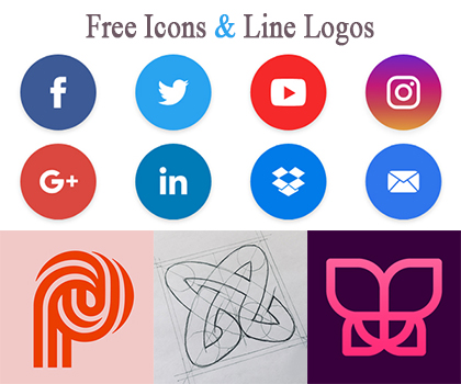 Creative Free Icon collection And Line Logos For Inspiration