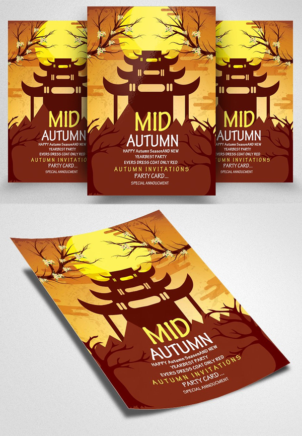 Mid Autumn Flyer Templates