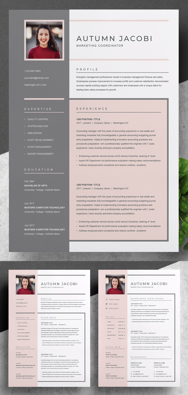 Elegant & Creative Resume / CV Template