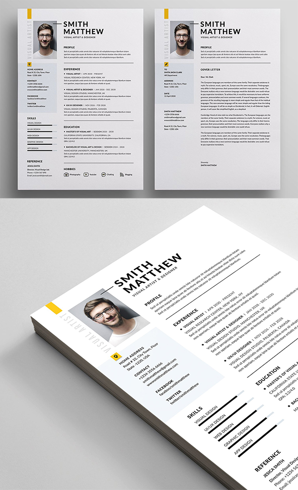 Modern and Professional Resume / CV