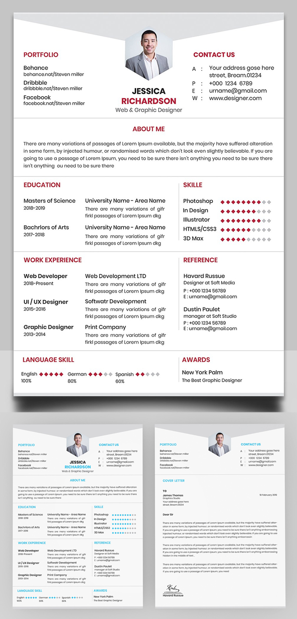 Awesome Resume And Cover Letter Design