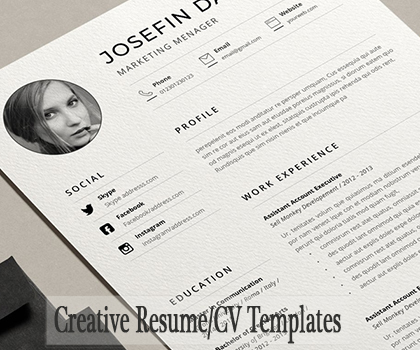 Post thumbnail of 15 Creative & Professional Resume / CV Templates To Get Your Dream Job
